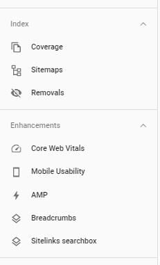 google search console website webpages
